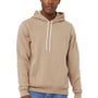 Bella + Canvas Mens Tan Sponge Fleece Hooded Sweatshirt Hoodie