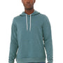 Bella + Canvas Mens Heather Deep Teal Blue Sponge Fleece Hooded Sweatshirt Hoodie