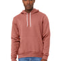 Bella + Canvas Mens Mauve Sponge Fleece Hooded Sweatshirt Hoodie