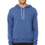 Bella + Canvas Mens Heather True Royal Blue Sponge Fleece Hooded Sweatshirt Hoodie