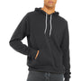 Bella + Canvas Mens Dark Grey Sponge Fleece Hooded Sweatshirt Hoodie
