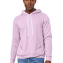 Bella + Canvas Mens Lilac Sponge Fleece Hooded Sweatshirt Hoodie