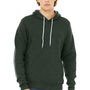 Bella + Canvas Mens Heather Forest Green Sponge Fleece Hooded Sweatshirt Hoodie