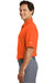 Nike 373749 Mens Dri-Fit Moisture Wicking Short Sleeve Polo Shirt Orange Side