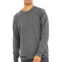 Bella + Canvas Mens Grey Sponge Fleece Crewneck Sweatshirt