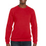 Bella + Canvas Mens Red Sponge Fleece Crewneck Sweatshirt