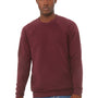 Bella + Canvas Mens Sponge Fleece Crewneck Sweatshirt - Maroon