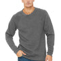 Bella + Canvas Mens Heather Deep Grey Sponge Fleece Crewneck Sweatshirt