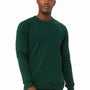 Bella + Canvas Mens Forest Green Sponge Fleece Crewneck Sweatshirt