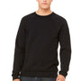 Bella + Canvas Mens Sponge Fleece Crewneck Sweatshirt - Black