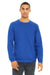 Bella + Canvas 3901 Mens Sponge Fleece Crewneck Sweatshirt Royal Blue Front