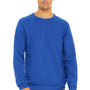 Bella + Canvas Mens Sponge Fleece Crewneck Sweatshirt - True Royal Blue