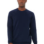 Bella + Canvas Mens Navy Blue Sponge Fleece Crewneck Sweatshirt