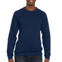 Bella + Canvas Mens Sponge Fleece Crewneck Sweatshirt - Navy Blue Triblend