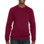 Bella + Canvas Mens Cardinal Red Sponge Fleece Crewneck Sweatshirt