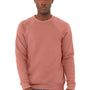 Bella + Canvas Mens Mauve Sponge Fleece Crewneck Sweatshirt
