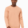 Bella + Canvas Mens Sponge Fleece Crewneck Sweatshirt - Peach