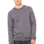 Bella + Canvas Mens Dark Grey Marble Fleece Sponge Fleece Crewneck Sweatshirt