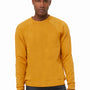 Bella + Canvas Mens Heather Mustard Yellow Sponge Fleece Crewneck Sweatshirt