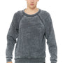 Bella + Canvas Mens Sponge Fleece Crewneck Sweatshirt - Grey Acid Fleece