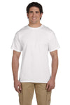 Fruit Of The Loom 3931 Mens HD Jersey Short Sleeve Crewneck T-Shirt White Front