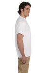 Fruit Of The Loom 3931 Mens HD Jersey Short Sleeve Crewneck T-Shirt White Side