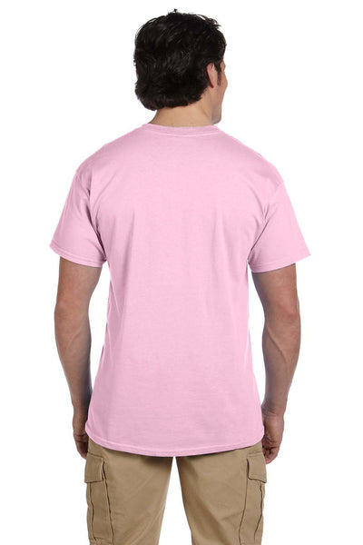 Fruit Of The Loom 3931 Mens HD Jersey Short Sleeve Crewneck T-Shirt Classic Pink Back