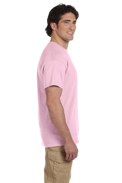 Fruit Of The Loom 3931 Mens HD Jersey Short Sleeve Crewneck T-Shirt Classic Pink Side