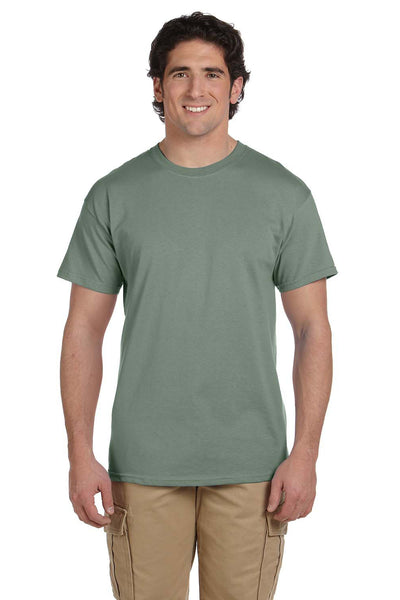 Fruit Of The Loom 3931 Mens HD Jersey Short Sleeve Crewneck T-Shirt Sagestone Green Front