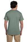 Fruit Of The Loom 3931 Mens HD Jersey Short Sleeve Crewneck T-Shirt Sagestone Green Back