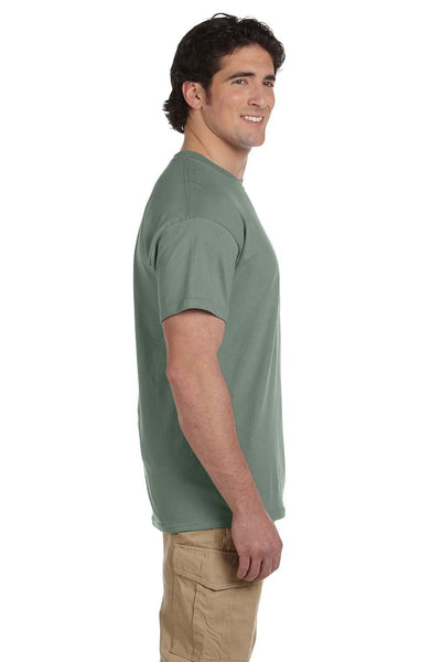 Fruit Of The Loom 3931 Mens HD Jersey Short Sleeve Crewneck T-Shirt Sagestone Green Side
