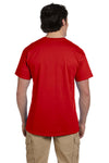 Fruit Of The Loom 3931 Mens HD Jersey Short Sleeve Crewneck T-Shirt Red Back