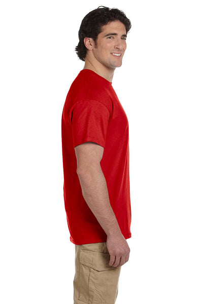 Fruit Of The Loom 3931 Mens HD Jersey Short Sleeve Crewneck T-Shirt Red Side