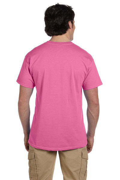 Fruit Of The Loom 3931 Mens HD Jersey Short Sleeve Crewneck T-Shirt Azalea Pink Back