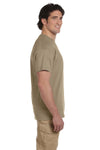 Fruit Of The Loom 3931 Mens HD Jersey Short Sleeve Crewneck T-Shirt Khaki Brown Side