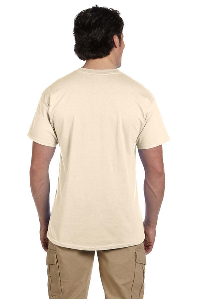 Fruit Of The Loom 3931 Mens HD Jersey Short Sleeve Crewneck T-Shirt Natural Back