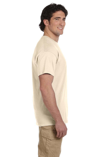 Fruit Of The Loom 3931 Mens HD Jersey Short Sleeve Crewneck T-Shirt Natural Side