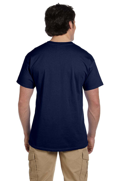 Fruit Of The Loom 3931 Mens HD Jersey Short Sleeve Crewneck T-Shirt Navy Blue Back