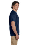 Fruit Of The Loom 3931 Mens HD Jersey Short Sleeve Crewneck T-Shirt Navy Blue Side