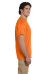 Fruit Of The Loom 3931 Mens HD Jersey Short Sleeve Crewneck T-Shirt Safety Orange Side