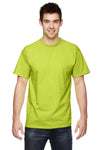 Fruit Of The Loom 3931 Mens HD Jersey Short Sleeve Crewneck T-Shirt Safety Green Front