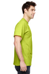 Fruit Of The Loom 3931 Mens HD Jersey Short Sleeve Crewneck T-Shirt Safety Green Side