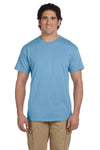 Fruit Of The Loom 3931 Mens HD Jersey Short Sleeve Crewneck T-Shirt Light Blue Front