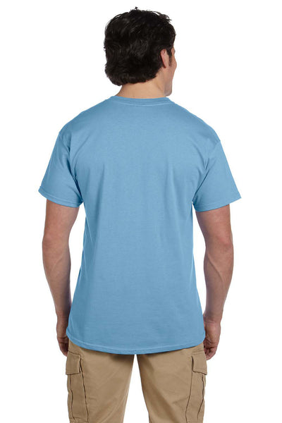 Fruit Of The Loom 3931 Mens HD Jersey Short Sleeve Crewneck T-Shirt Light Blue Back