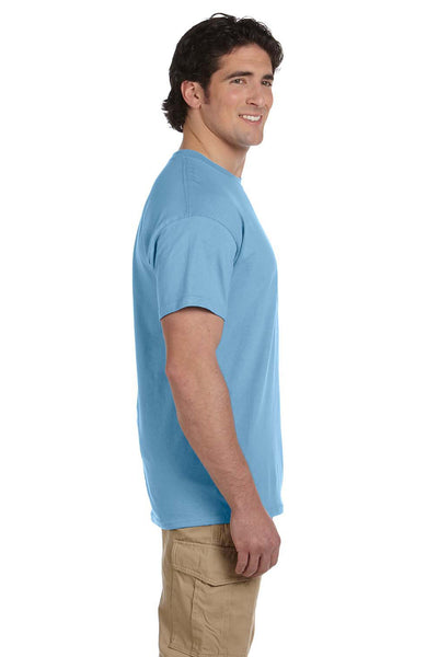 Fruit Of The Loom 3931 Mens HD Jersey Short Sleeve Crewneck T-Shirt Light Blue Side
