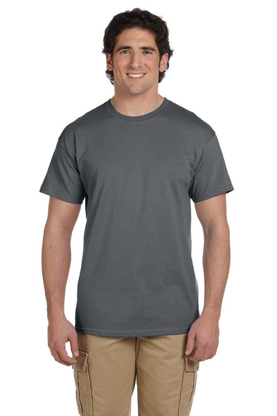 Fruit Of The Loom 3931 Mens HD Jersey Short Sleeve Crewneck T-Shirt Charcoal Grey Front