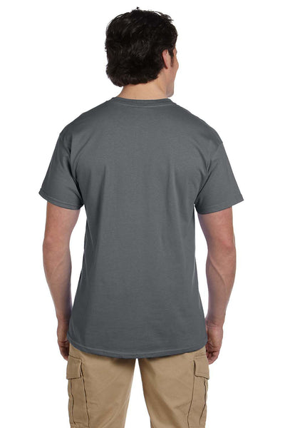 Fruit Of The Loom 3931 Mens HD Jersey Short Sleeve Crewneck T-Shirt Charcoal Grey Back