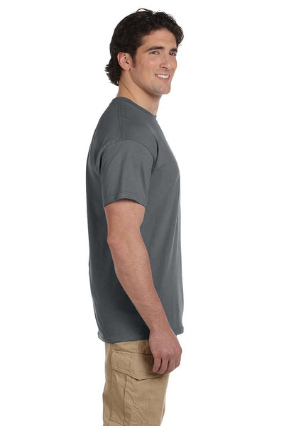 Fruit Of The Loom 3931 Mens HD Jersey Short Sleeve Crewneck T-Shirt Charcoal Grey Side