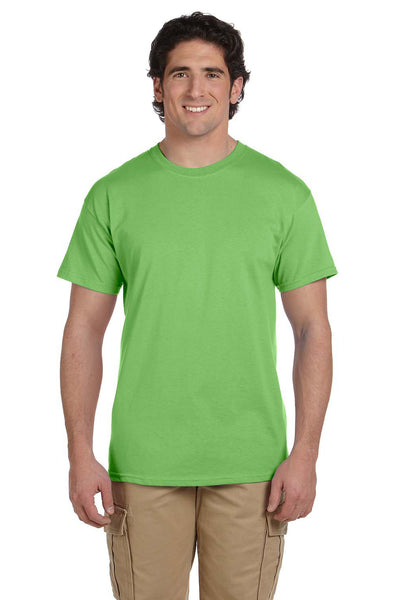 Fruit Of The Loom 3931 Mens HD Jersey Short Sleeve Crewneck T-Shirt Kiwi Green Front
