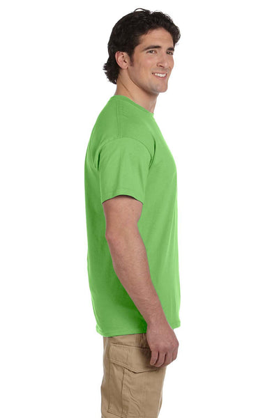 Fruit Of The Loom 3931 Mens HD Jersey Short Sleeve Crewneck T-Shirt Kiwi Green Side